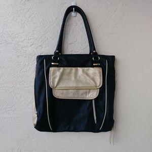 Steve Madden Gold Black Shoulder Bag Handbag Purse